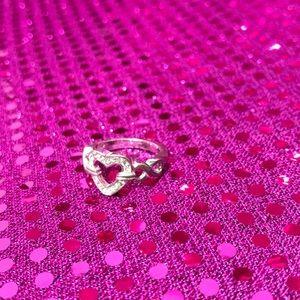 Heart & infinity diamond ring